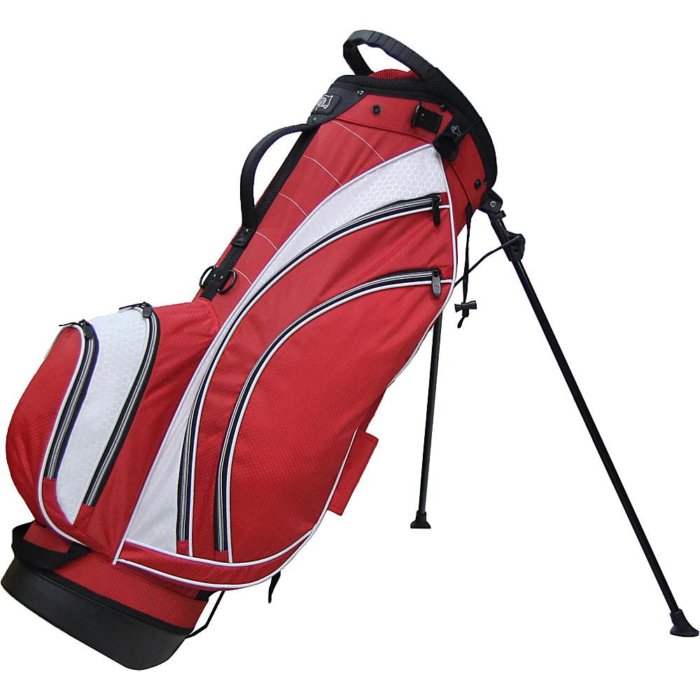 RJ Golf Lightweight Stand Bag Red/White - RJ Golf Golf Bags