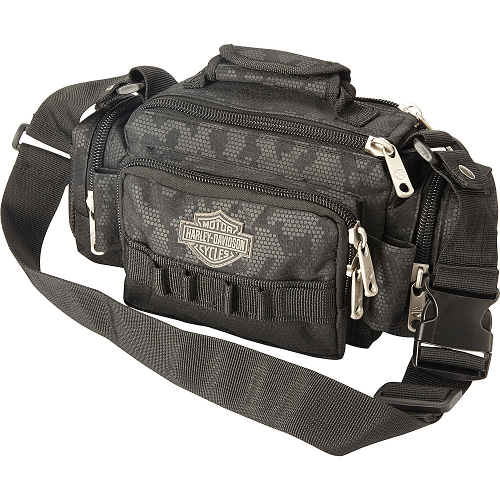 Harley Davidson by Athalon Molle Side Kick Tandem Black night Vision Harley Davidson by Athalon Messenger Bags
