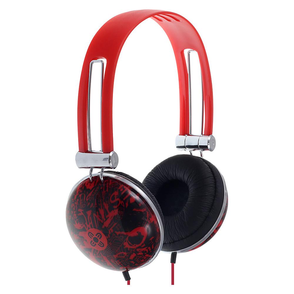 Moki Dome Headphones Red Moki Headphones Speakers