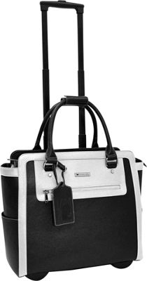 Cabrelli Talula Two Tone 15 inch Laptop Rollerbrief Black/White - Cabrelli Wheeled Business Cases