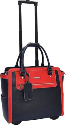 Cabrelli Talula Two Tone 15 inch Laptop Rollerbrief Navy/Red - Cabrelli Wheeled Business Cases