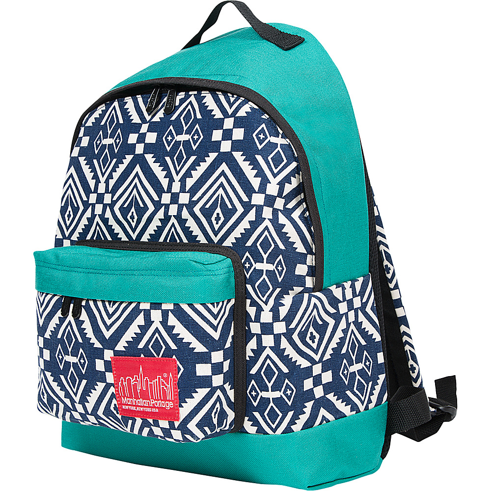 Manhattan Portage Totem Big Apple Backpack (MD) Navy/Aqua - Manhattan Portage Everyday Backpacks - Backpacks, Everyday Backpacks