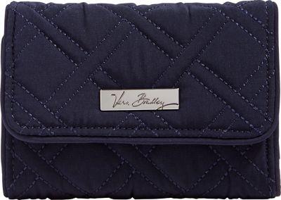 Vera Bradley Riley Compact Wallet-Solid Navy - Vera Bradley Women's Wallets