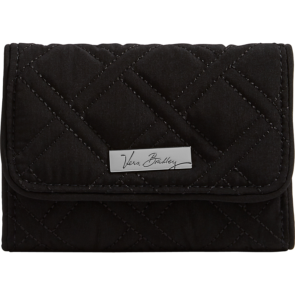 Vera Bradley Riley Compact Wallet-Solid Black - Vera Bradley Womens Wallets - Women's SLG, Women's Wallets
