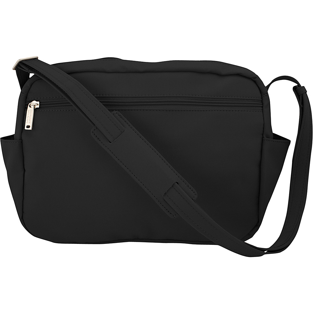 BeSafe by DayMakers Original Anti Theft 9 Pocket Traveler Messenger Black BeSafe by DayMakers Fabric Handbags