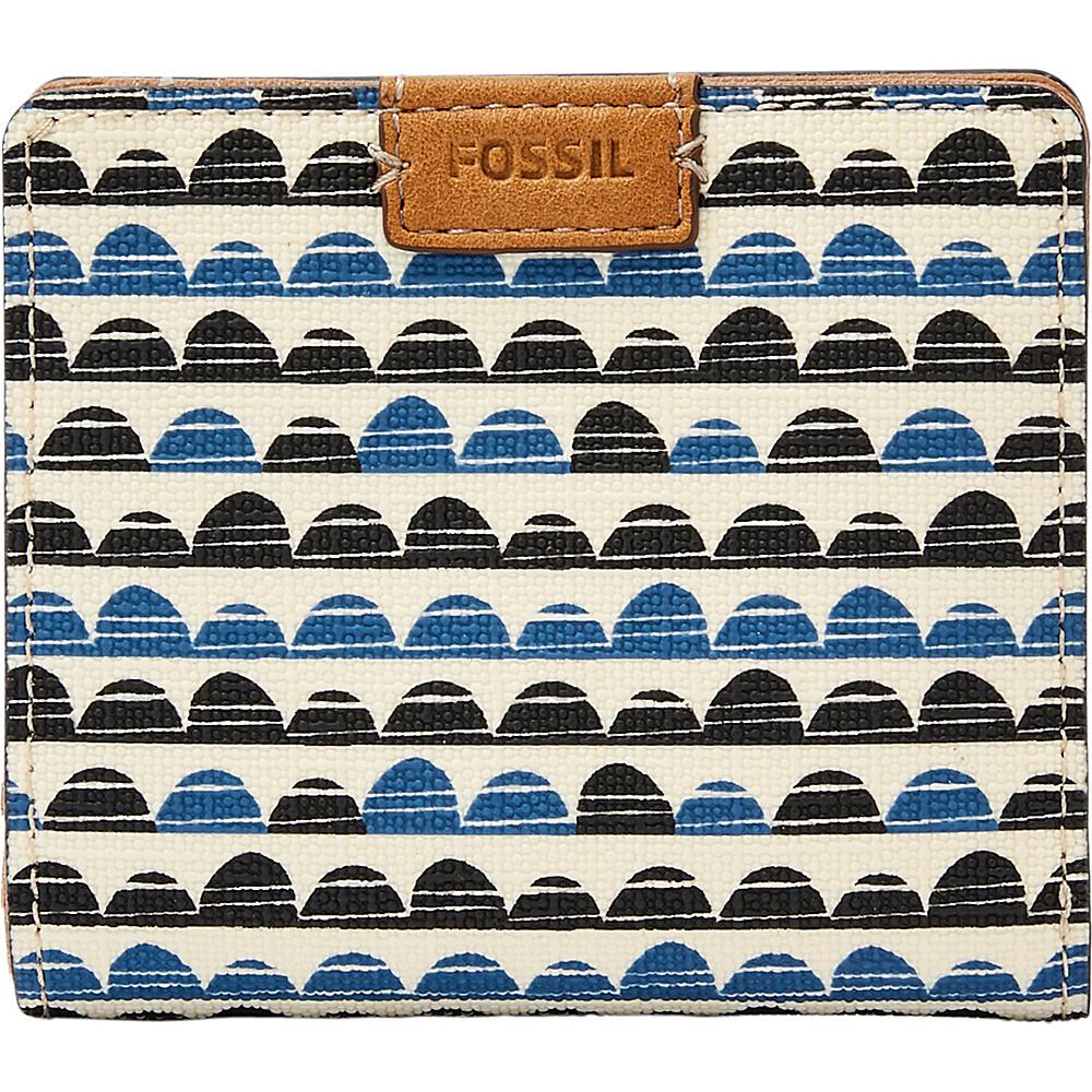Fossil Emma RFID Mini Wallet Blue Print - Fossil Designer Handbags - Handbags, Designer Handbags
