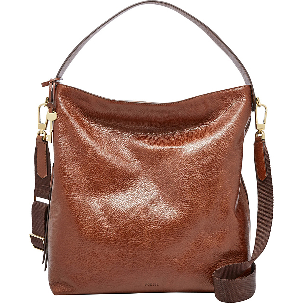 Fossil Maya Large Hobo Brown - Fossil Leather Handbags - Handbags, Leather Handbags