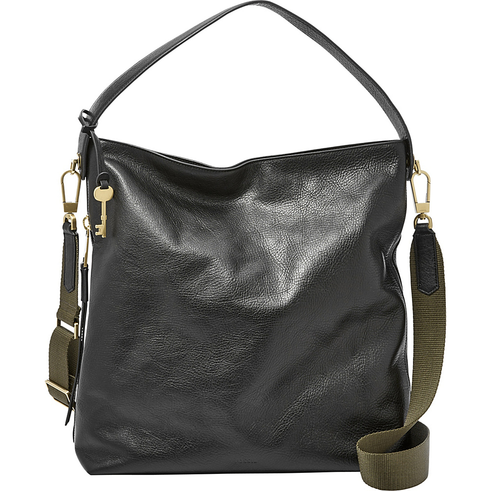 Fossil Maya Large Hobo Black - Fossil Leather Handbags - Handbags, Leather Handbags