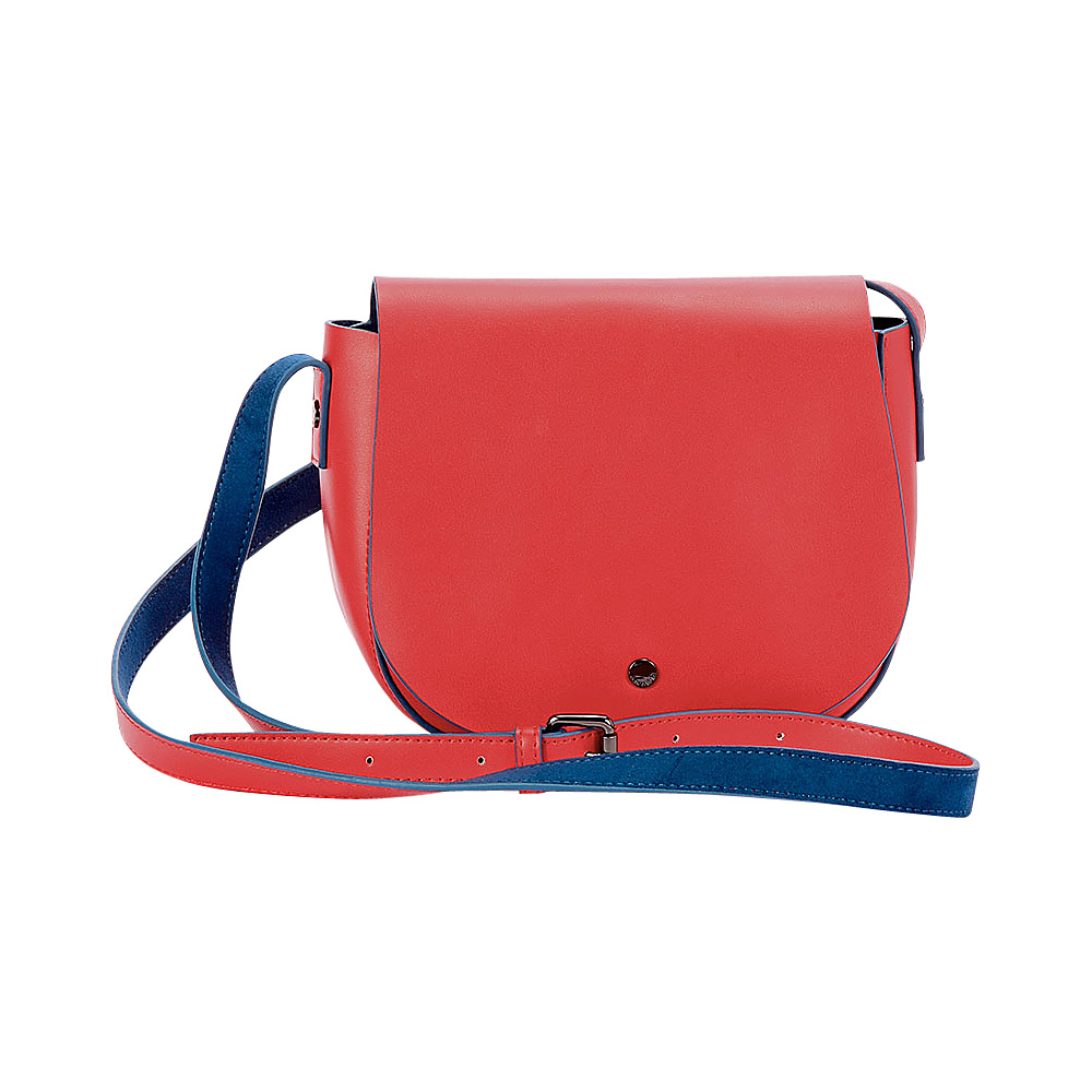 deux lux Cortina Saddle Bag Ruby deux lux Manmade Handbags