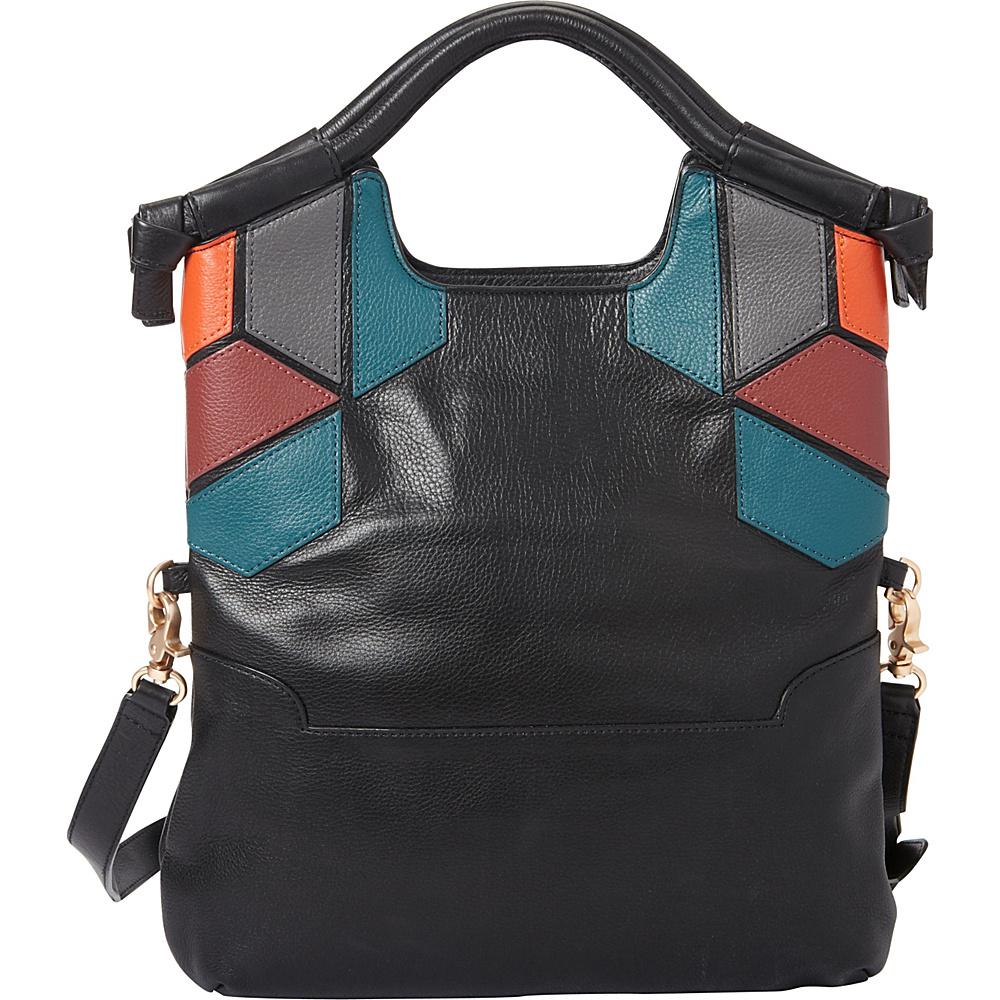 Foley Corinna Geo Patch FC Lady Tote Black Multi Foley Corinna Designer Handbags