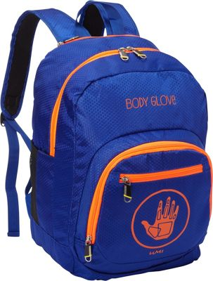 BODY GLOVE Long Lat Umi 17 inch Backpack Blue/Orange - BODY GLOVE Long Lat Everyday Backpacks