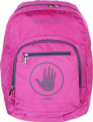 BODY GLOVE Long Lat Umi 17 inch Backpack Pink/Grey - BODY GLOVE Long Lat Everyday Backpacks