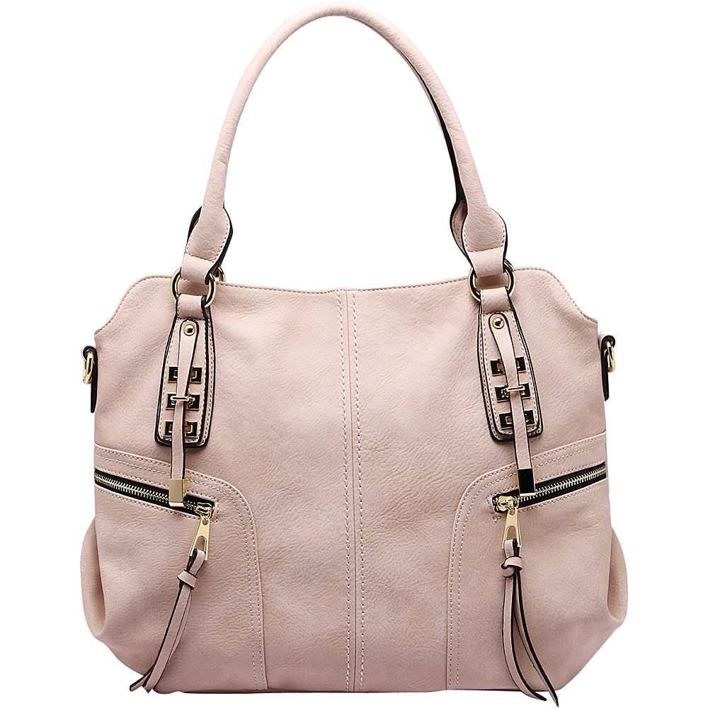 MKF Collection by Mia K. Farrow Edie Zippered Handbag Beige - MKF Collection by Mia K. Farrow Gym Bags - Sports, Gym Bags