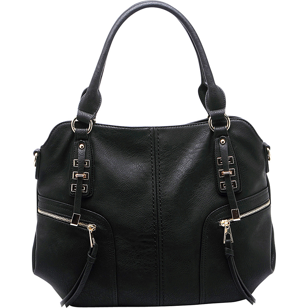 MKF Collection by Mia K. Farrow Edie Zippered Handbag Black - MKF Collection by Mia K. Farrow Gym Bags - Sports, Gym Bags