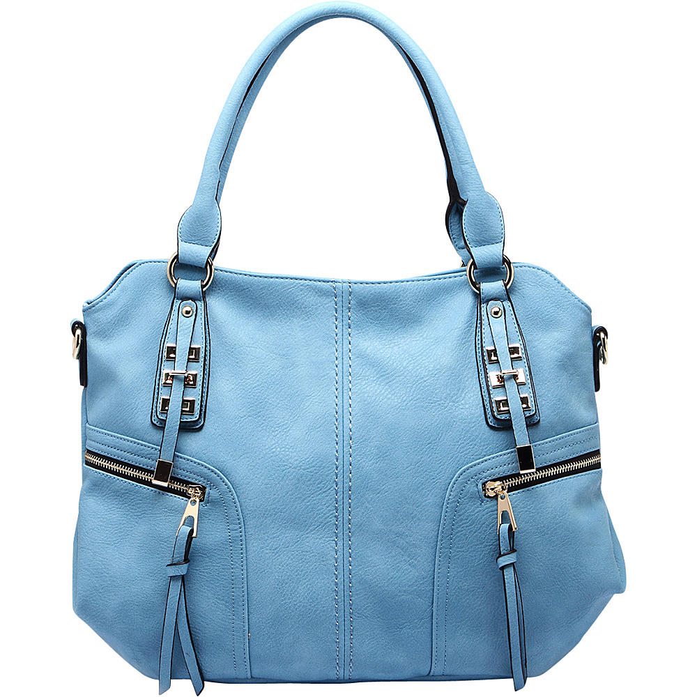 MKF Collection by Mia K. Farrow Edie Zippered Handbag Blue - MKF Collection by Mia K. Farrow Gym Bags - Sports, Gym Bags