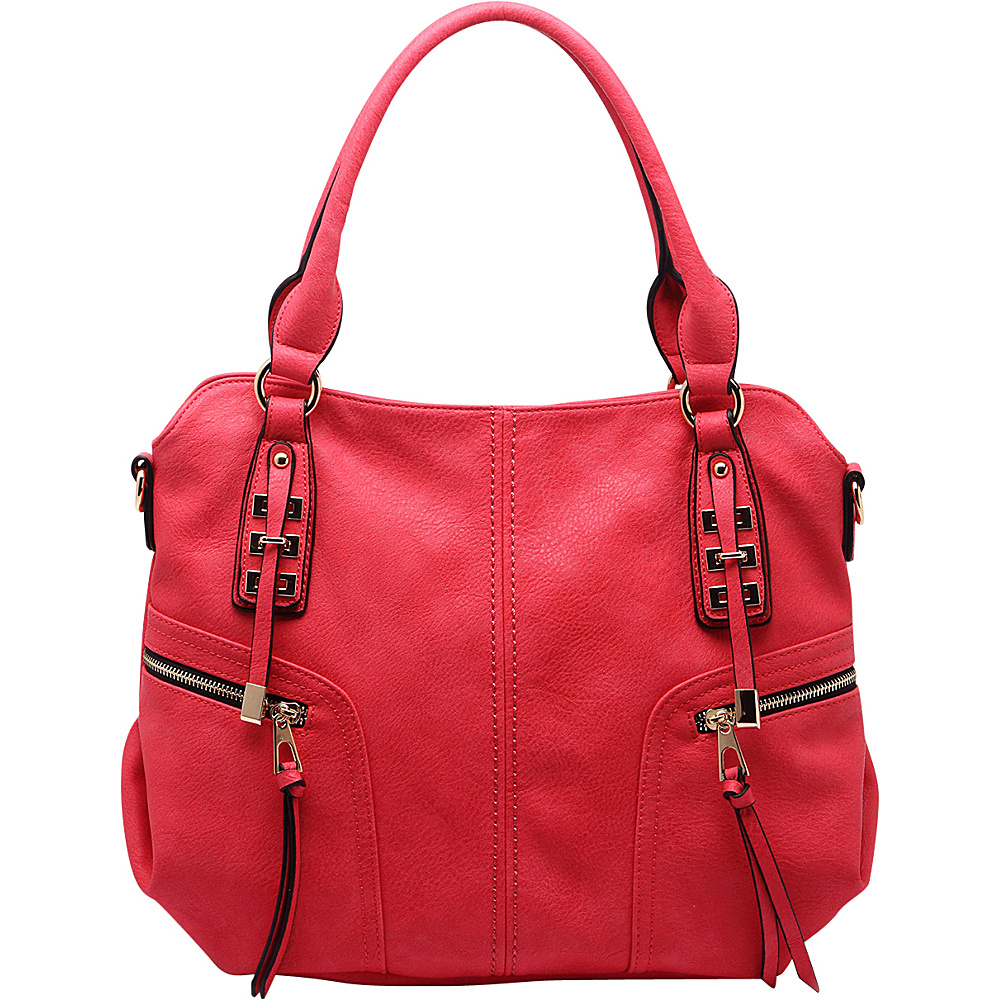 MKF Collection by Mia K. Farrow Edie Zippered Handbag Red - MKF Collection by Mia K. Farrow Gym Bags - Sports, Gym Bags