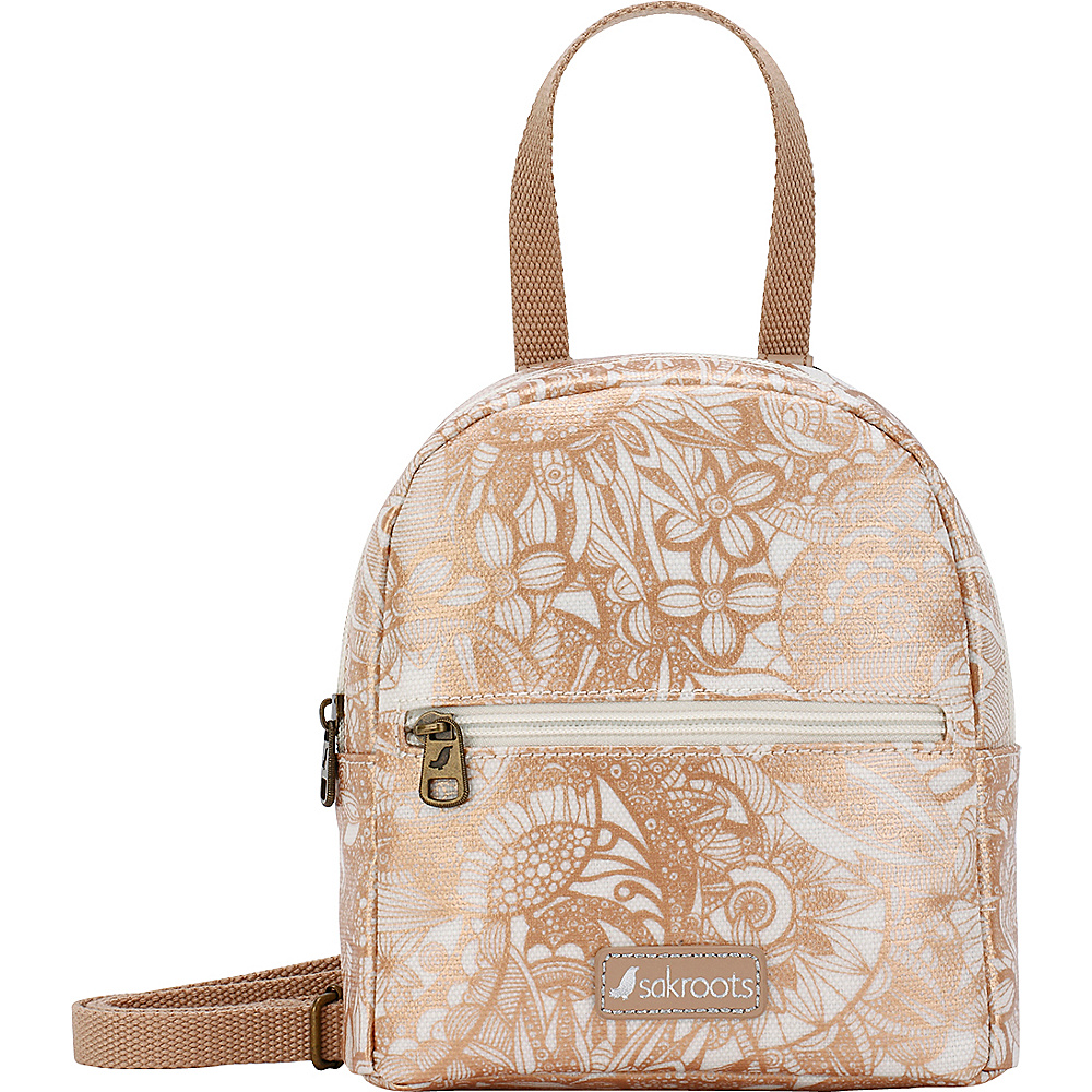 Sakroots The Artist Circle Mini Crossbody Backpack Rose Gold Spirit Desert - Sakroots Fabric Handbags - Handbags, Fabric Handbags