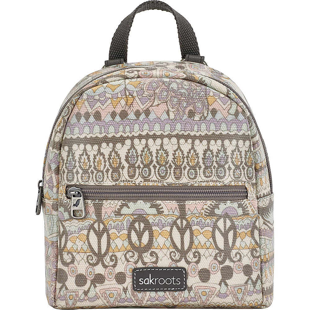 Sakroots The Artist Circle Mini Crossbody Backpack Pastel One World - Sakroots Fabric Handbags - Handbags, Fabric Handbags