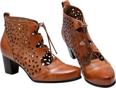 Vicenzo Footwear Shae Perforated Flat Heel Ankle Womens Leather Boots 9 - Brown - Vicenzo Footwear Women's Footwear