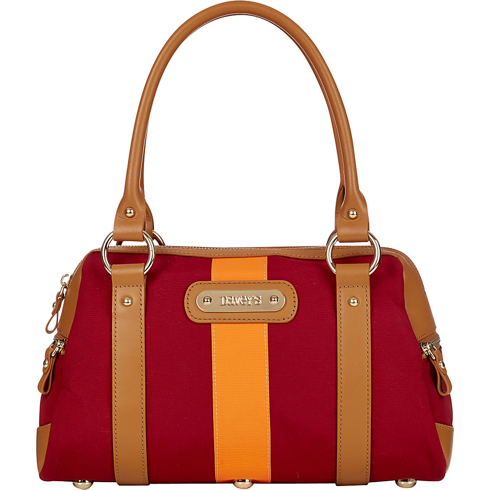 Davey s Doctor Bag Stripe Satchel Maroon Orange Stripe Davey s Fabric Handbags