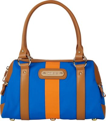 Davey's Doctor Bag Stripe Satchel Royal/Orange Stripe - Davey's Fabric Handbags