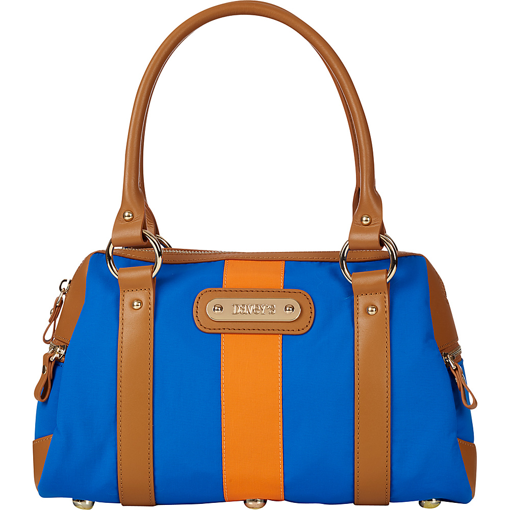 Davey s Doctor Bag Stripe Satchel Royal Orange Stripe Davey s Fabric Handbags