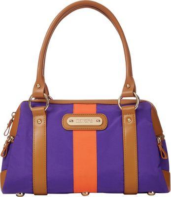 Davey's Doctor Bag Stripe Satchel Purple/Orange Stripe - Davey's Fabric Handbags