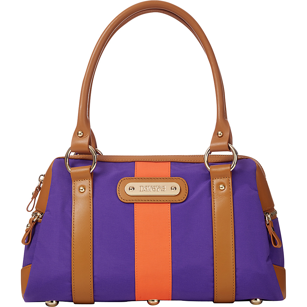 Davey s Doctor Bag Stripe Satchel Purple Orange Stripe Davey s Fabric Handbags