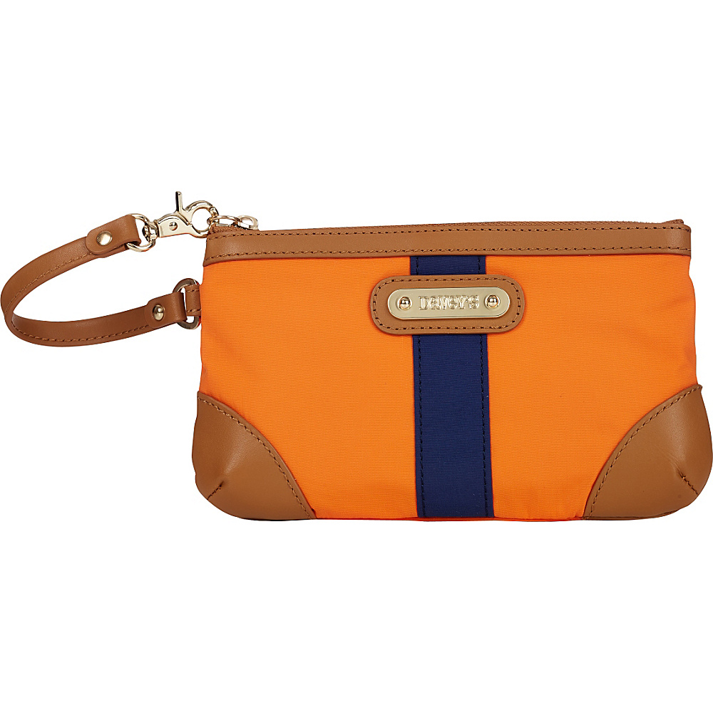 Davey s Medium Stripe Wristlet Orange Navy Stripe Davey s Fabric Handbags