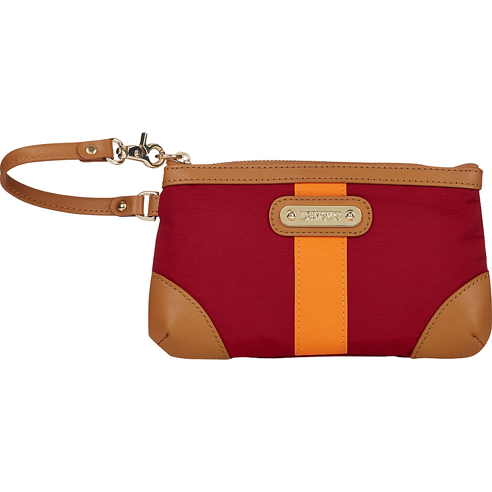 Davey s Medium Stripe Wristlet Maroon Orange Stripe Davey s Fabric Handbags