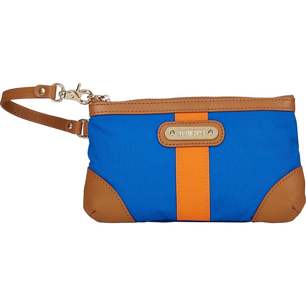 Davey s Medium Stripe Wristlet Royal Orange Stripe Davey s Fabric Handbags