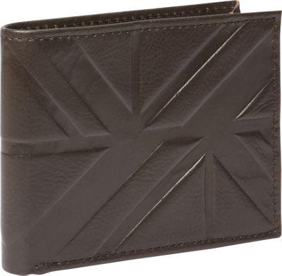 Ben Sherman Luggage Woodside Park Leather RFID Traveler Passcase Wallet Brown - Ben Sherman Luggage Men's Wallets
