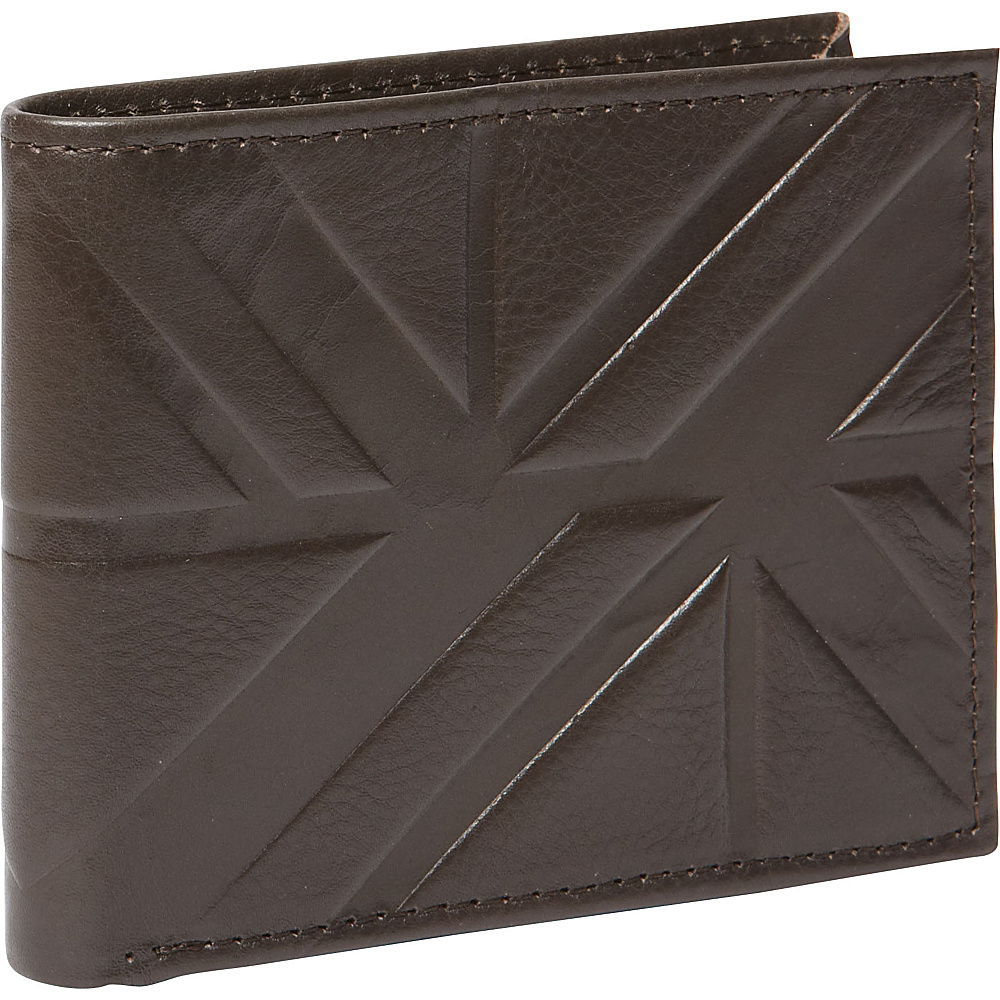 Ben Sherman Luggage Woodside Park Leather RFID Traveler Passcase Wallet Brown Ben Sherman Luggage Men s Wallets