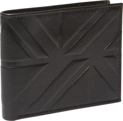 Ben Sherman Luggage Woodside Park Leather RFID Traveler Passcase Wallet Black - Ben Sherman Luggage Men's Wallets