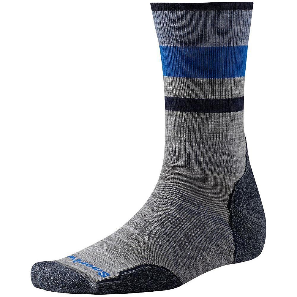 Smartwool PhD Outdoor Light Pattern Crew Light Gray Medium Smartwool Men s Legwear Socks