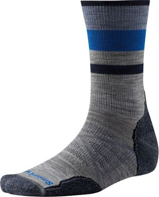 Smartwool PhD Outdoor Light Pattern Crew L - Light Gray - Large - Smartwool Men's Legwear/Socks
