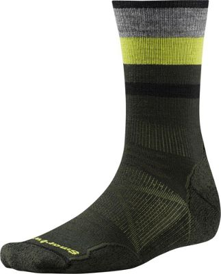 Smartwool PhD Outdoor Light Pattern Crew M - Forest - Large - Smartwool Men's Legwear/Socks