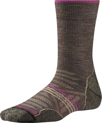 Smartwool Womens PhD Outdoor Light Crew S - Taupe - Small - Smartwool Women's Legwear/Socks