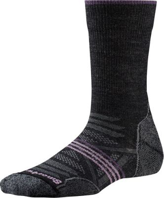 Smartwool Womens PhD Outdoor Light Crew S - Charcoal - Small - Smartwool Women's Legwear/Socks
