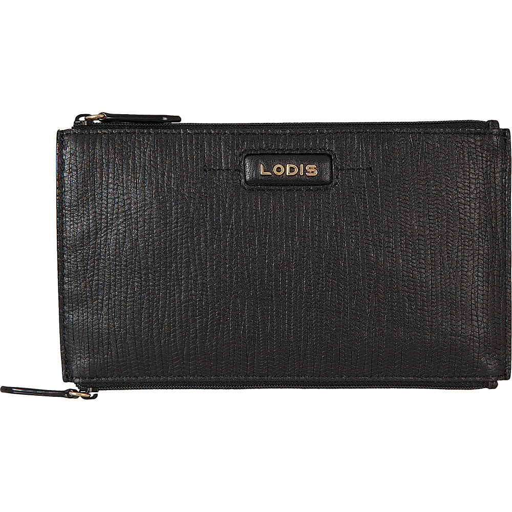 Lodis Cordoba Lani Double Zip Pouch Black - Lodis Womens Wallets - Women's SLG, Women's Wallets