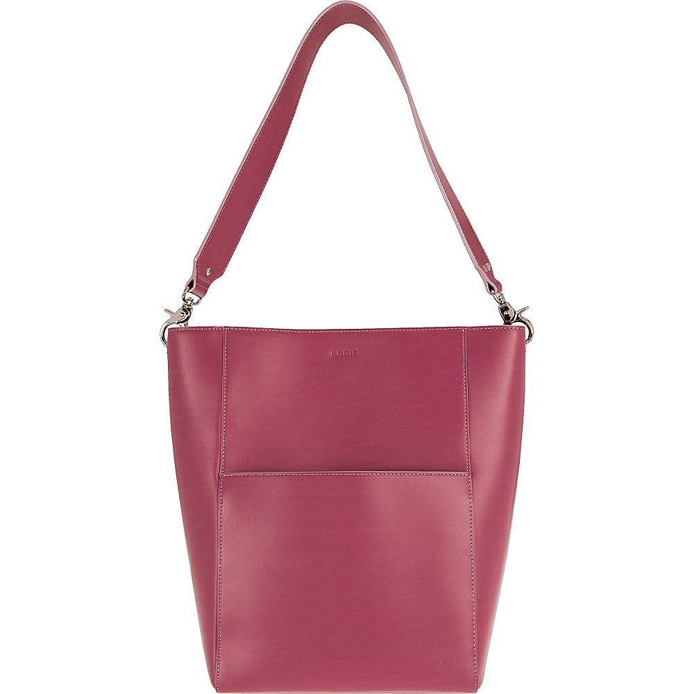Lodis Audrey Berta Bucket Beet/Iced Violet - Lodis Leather Handbags - Handbags, Leather Handbags