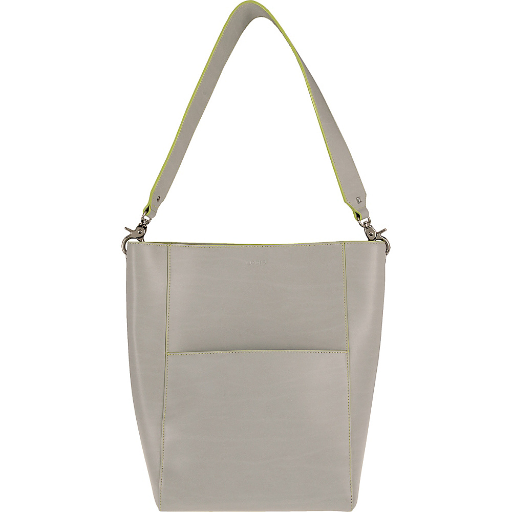Lodis Audrey Berta Bucket Dove/Lime - Lodis Leather Handbags - Handbags, Leather Handbags
