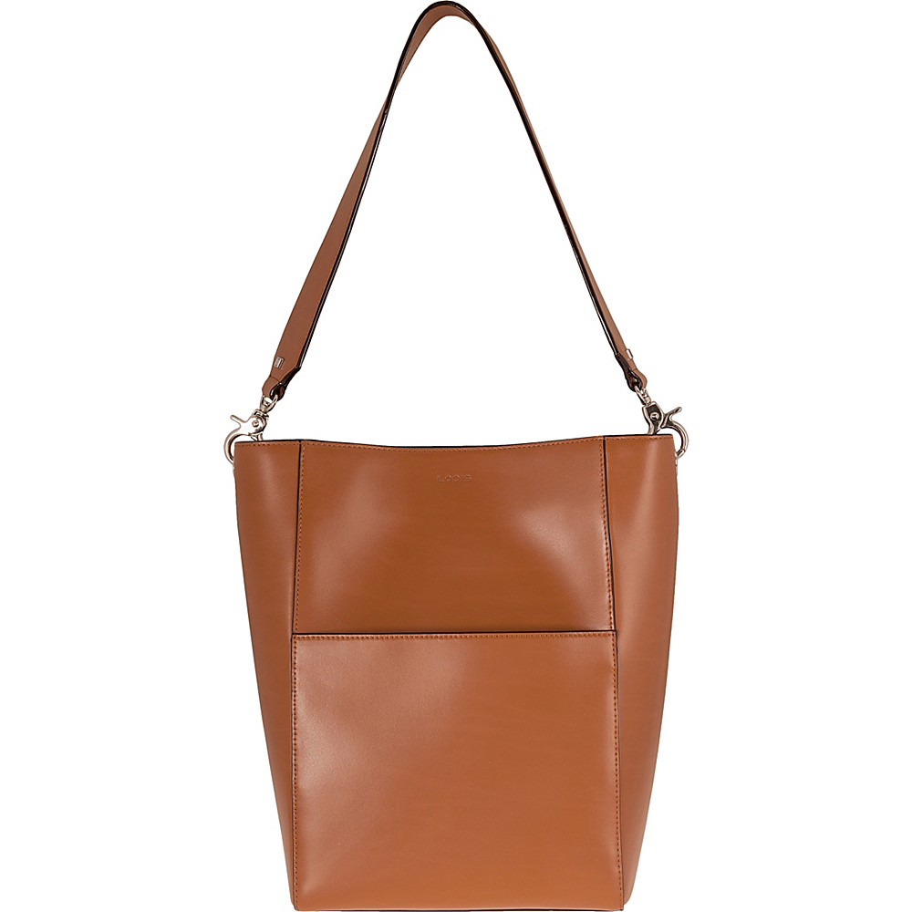Lodis Audrey Berta Bucket Toffee/Chocolate - Lodis Leather Handbags - Handbags, Leather Handbags