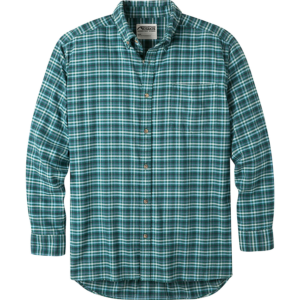 Mountain Khakis Downtown Flannel Shirt L - Deep Jade - Mountain Khakis Mens Apparel - Apparel & Footwear, Men's Apparel