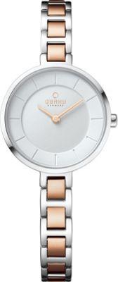 Obaku Watches Womens Stainless Steel Link Watch Silver/Rose Gold - Obaku Watches Watches