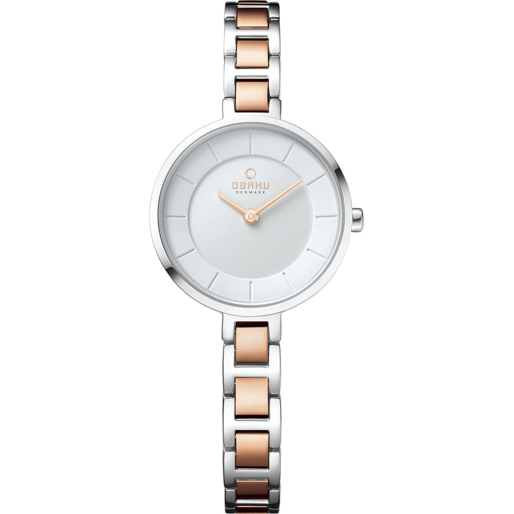 Obaku Watches Womens Stainless Steel Link Watch Silver Rose Gold Obaku Watches Watches