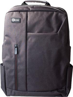 B iconic Pilot Laptop Backpack Grey - B iconic Business & Laptop Backpacks