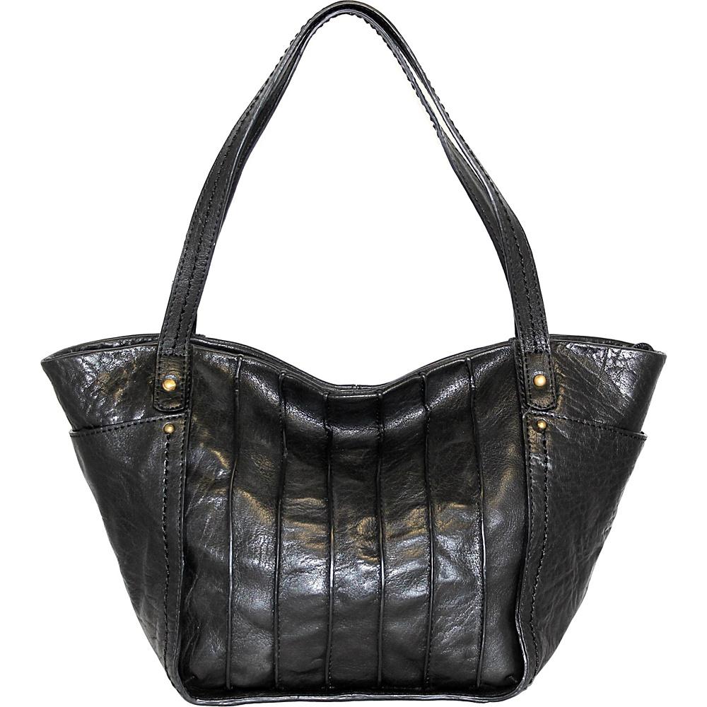 Nino Bossi Begonia Bloom Shoulder Bag Black - Nino Bossi Leather Handbags - Handbags, Leather Handbags