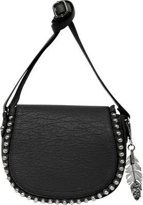 Jessica Simpson Camile Flap Crossbody Black - Jessica Simpson Manmade Handbags