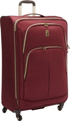 London Fog Coventry Hyperlights 29 inch Expandable Spinner Plum - London Fog Softside Checked